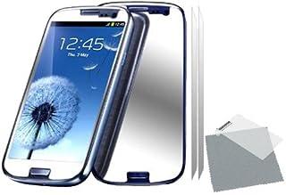 TEKGEAR **2 pack med spegel skärmskydd vakter med rengöringsduk för Samsung Galaxy S3 i9300 GT-I9300