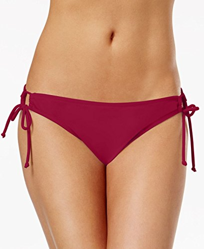 Raisins Damen Bikini-Hose mit Seitenbindung, Dunkelrot, Größe L