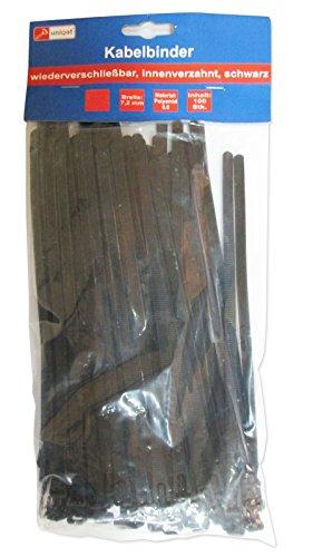 Uniqat UQ791459 Kabelbinder, schwarz, 100 Stück