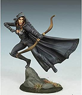 Female Rogue with Bow Miniature Visions in Fantasy Dark Sword Miniatures