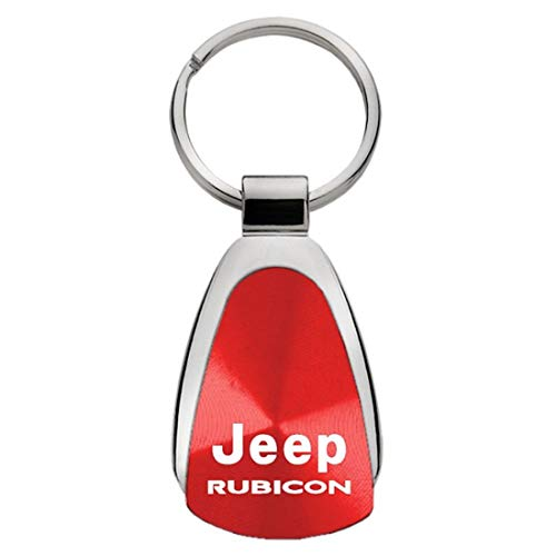 Au-Tomotive Gold, INC. Tear Drop Key Chain for Jeep Rubicon (Red)