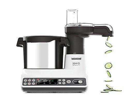 Foto von Kenwood Kcook Multi CCL401WH–Küchenmaschine mit integriertem Zerkleinerer, weiß und schwarz