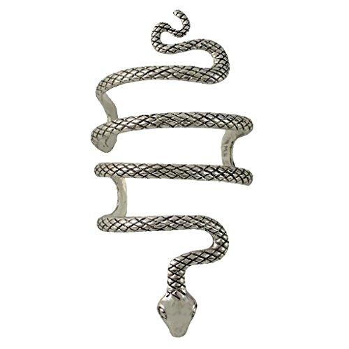 B Baosity Vintage Geschwungene Geschnitzte Schlange Offen Armreif Silber Manschette Punk Armband Für Männer