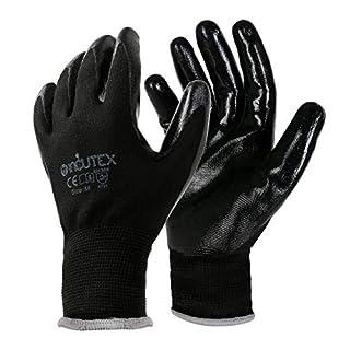 scheda incutex 12 paia guanti da lavoro guanti da montaggio guanti meccanico guanti costruzione con rivestimento in nitrile, taglia 8 m