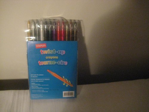 Staples Twist-Up Crayons 24 Pack ' 7 inchs Long'