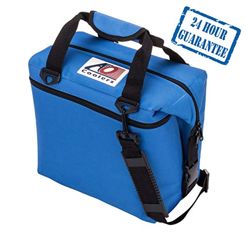 AO Coolers Original Soft Cooler with High-Density Insulation, Royal Blue, 12-Can