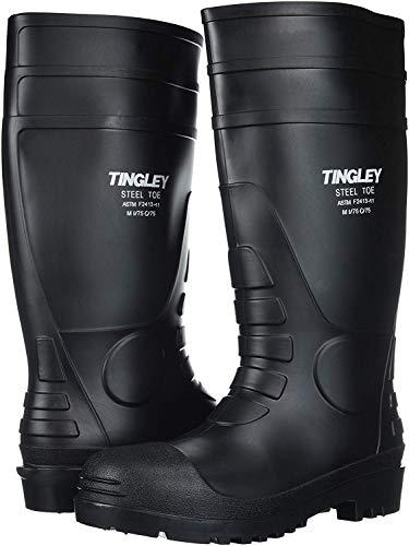 Tingley Mens PVC Steel Toe 15 Knee Boot,Black,US 11 M