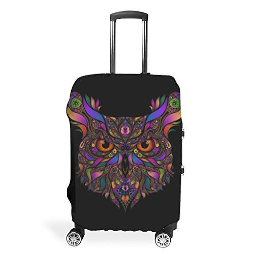 Funda protectora para maletas de viaje de poliéster con diseño de búho multicolor Blanco blanco m (60x81cm)