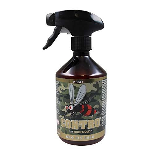 HOOFGOLD Contro Pferde Fliegen- & Bremsenspray - Antibremsenpflege & Anti-Mücken Insektenschutz - 500 ml Sprühflasche