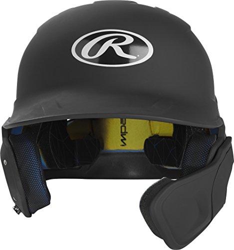 Rawlings MACHEXTR-B7-JR 2019 Mach Baseball Batting Helmet, Matte Black