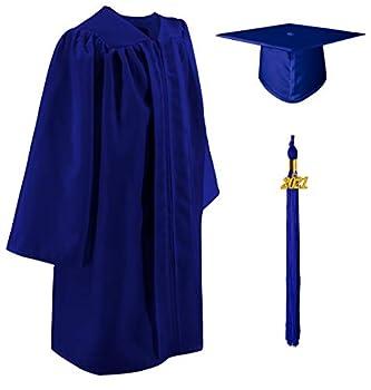 GraduatePro Matte 2021 Kindergarten Graduation Cap and Gown Tassel Set for Preschool Toddler Royal 33