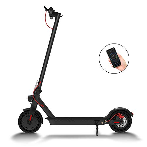 Hiboy S2 Electric Scooter - 8.5' Solid Tires - Up to 17 Miles & 18.6 MPH Portable Folding Commuting...