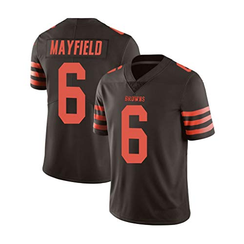 NFL Football Jersey Browns13# Beckham JR 6# Mayfield Hommes Football Jersey Edition Fans Football Sportswear à Manches Courtes Sport Top T-Shirt