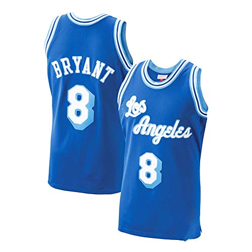 Herren Los Angeles Lakers Kobe Bryant Mitchell Ness Royal 1996-97 Spieler Trikot Wettkampf Training Uniform Sommer Weste Schnell Trocknend Team Uniform Gr. S, blau