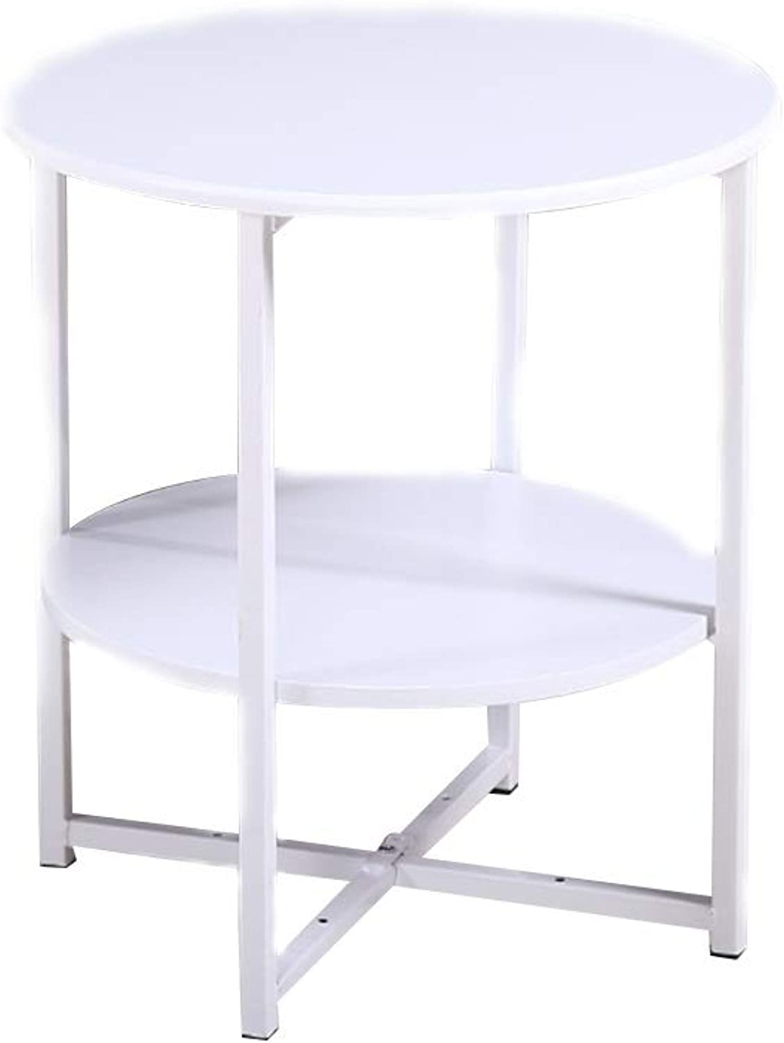 Coffee Table Small Coffee Table, Double Storey Farewell Messy Mini Multipurpose Sofa Side Table (color   White)
