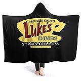 Yaxinduobao Hooded Manta Throw Luke's Diner Super Soft Sherpa Fleece Manta Hood Poncho Cloak Cape