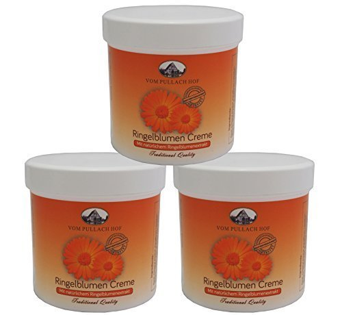 3 x 250ml Ringelblumen-Creme vom Pullach Hof, Hautpflege Ringelblumencreme