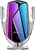 FDGAO Chargeur sans Fil de Rapide Voiture Auto sans Fil à Induction, 10W/7.5W Support Téléphone Chargeur Induction pour Samsung Galaxy S10/S10+/S9/S9+/S8/Note 8/9; iPhone Se/11/11 Pro/XS/Max/X/XR/8