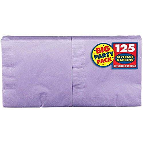 Lavender Big Party Pack Beverage Napkins | Pack of 125 | Party Supply