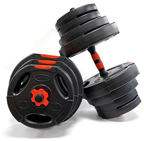 TnP Distribution Tri Grip Dumbbell Set 40KG Adjustable Dumbbells Sets Weights Plate Gym Weight Bar Bars