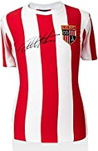 Autographed Geoff Hurst Jersey - Sir Retro Stoke City Shirt - Autographed Soccer Jerseys