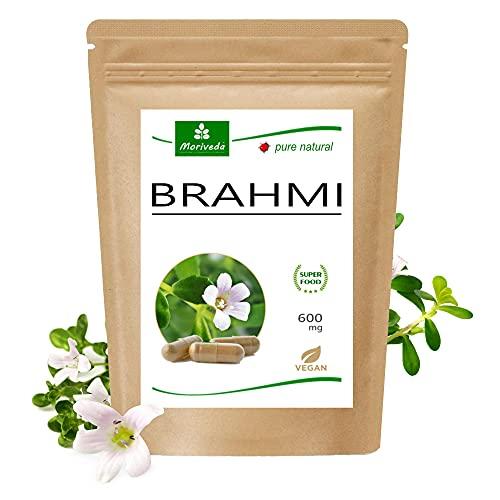 MoriVeda® Brahmi Gélules   2 mois d'approvisionnement   Memoryplant poudre poids de la capsule de 600 mg   vegan, sans additifs   120 gélules