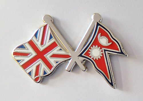 1000 drapeaux du Népal et drapeau du Royaume-Uni
