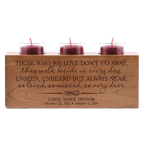 Lifesong Milestones Personalized 3 Votive Tealight Candle Holder Those Who We Love Bereavement Sympathy Gift for Loss of Loved One 10x4x4