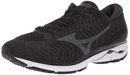 Mizuno Wave Rider 23 WAVEKNIT, Zapatillas para Correr Hombre, Negro (Black Dark Shadow), 47 EU