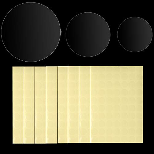 """1135 PCS Transparent Clear Circle Labels Retail Package Seals 1/2inch 1inch 1-1/2inch Round Natural Paper Adhesive Wafer Package Seals Color Coding Stickers 0.5"""" 1"""" 1.5"""""""