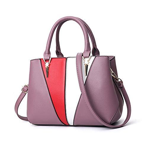 BeniNuevas contracciones de damas bolsos bolsos de viaje bolso diagonal del hombro-púrpura