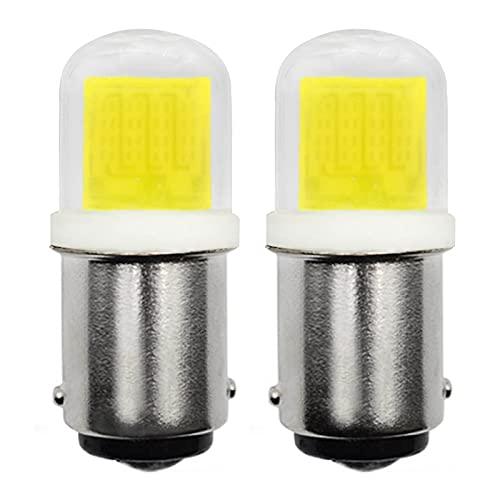 B15 LED Lampe Birne Dimmbar 230V 3W COB Glühbirne, 30W Halogen-Equivalent SBC Kleine Bajonett B15D LED-Birnen für Nähmaschine Leuchtmittel/Dunstabzugshaube, kaltweiß 6000K, 2er Pack [MEHRWEG]