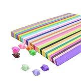 Juego de tiras de papel, 1350 tiras de papel para decoración de fiestas hechas a mano (27 colores)