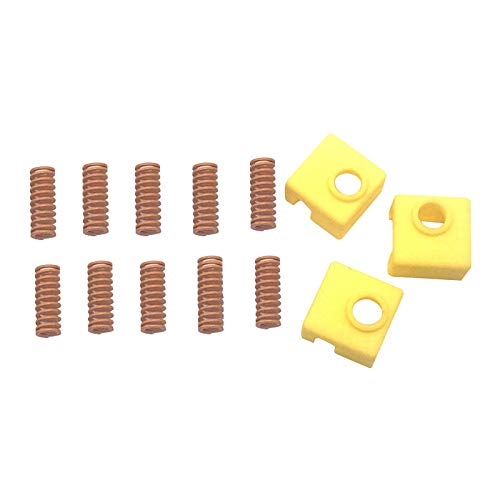 Monland 13PCS/Set 3D Printer Parts 8X20 Hot Bed Leveling Spring with MK8 Silicone Sleeve Socks for CR-10 Ender 3 3D Printer Kit
