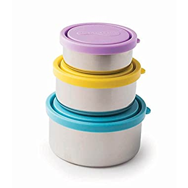 U Konserve - Nesting Trio, Perfect for Lunches or Picnics, Reduce Waste, Dishwasher Safe (Round, Sky)
