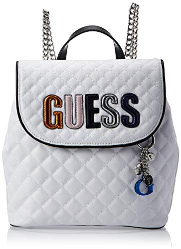 GUESS Brielle Quilted Backpack, White Multi