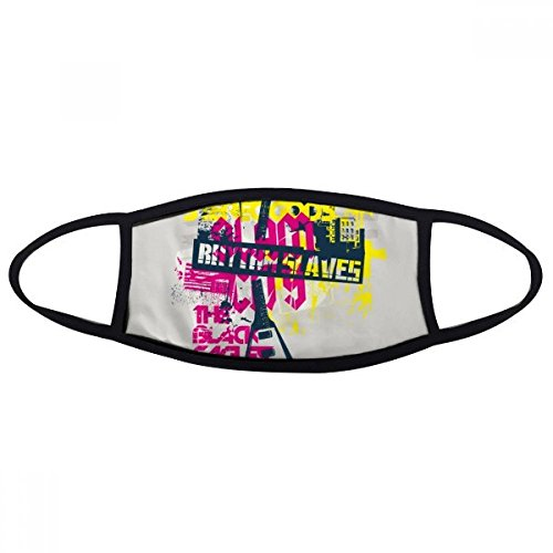 DIYthinker Gitaar Roze Geel Muziek Instrument Patroon Mond Gezicht Anti-stof Masker Anti Koud Warm Wasbaar Katoen Gift