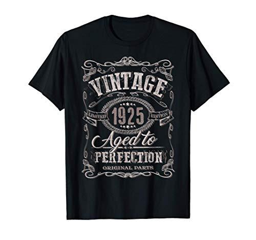 96 ° regalo di compleanno Vintage 1925 Età 96 anni Maglietta