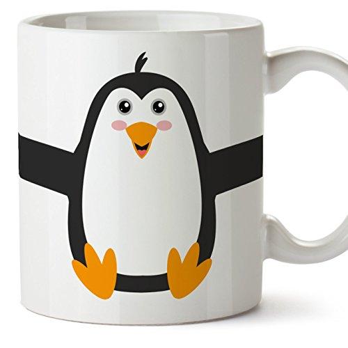 MUGFFINS Pingüino Tazas Originales de Desayuno - Animales Graciosos Ideas para Regalos - Cerámica 350 ml