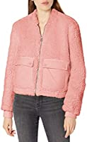 Lucky Brand womens Long Sleeve Zip Front Utility Teddy Coat Transitional Jacket