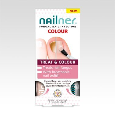 "Nailner, ""Treat and Colour"", 2 x 5 ml"