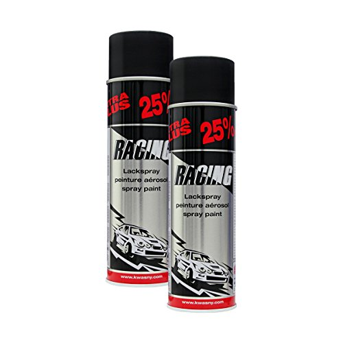 Kwasny 2X 288 921 Auto-K Racing Lackspray Schwarz Matt 500ml