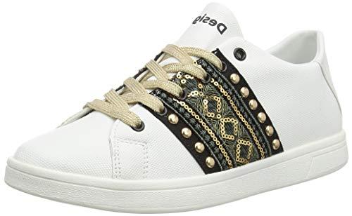 Desigual Shoes Cosmic Exotic Gold, Scarpe da Ginnastica Donna, Bianco Blanco 1000, 41 EU