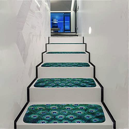 LTL Stufenmatten, 70 X 22Cm Selbstklebend Treppenmatten rutschfest Treppenteppich Rutsch Streifen Treppenstufen Matten Rutschschutz Stufenteppich Für Kinder,3pcs
