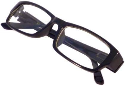 Clear plastic frame glasses _image4