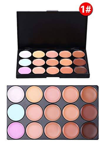 PhantomSky 15 Colores Corrector Camuflaje Paleta Maquillaje