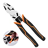 Multifunctional universal Vise pliers electrician labor-saving wire cutters wire strippers industrial grade, Rubberized Handle Electricians Tool Kit,crimping pliers, universal pliers repair(9 in)