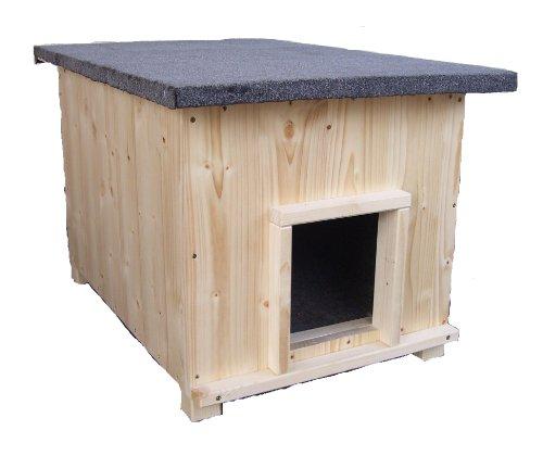 Katzenhaus kurz mit Heizung Katzenhütte Wurfkiste wetterfest isoliert beheizt