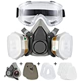 Dust Face Cover Spray Paint Cover Gas Filter Respirator Goggles Reusable Adjustable