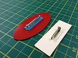 Graviertes Mitarbeiter-Namensschild, für Schule, Bar, Restaurant, Fabrik, Unternehme, Büro etc., acryl, weiß, OVAL 75x35mm